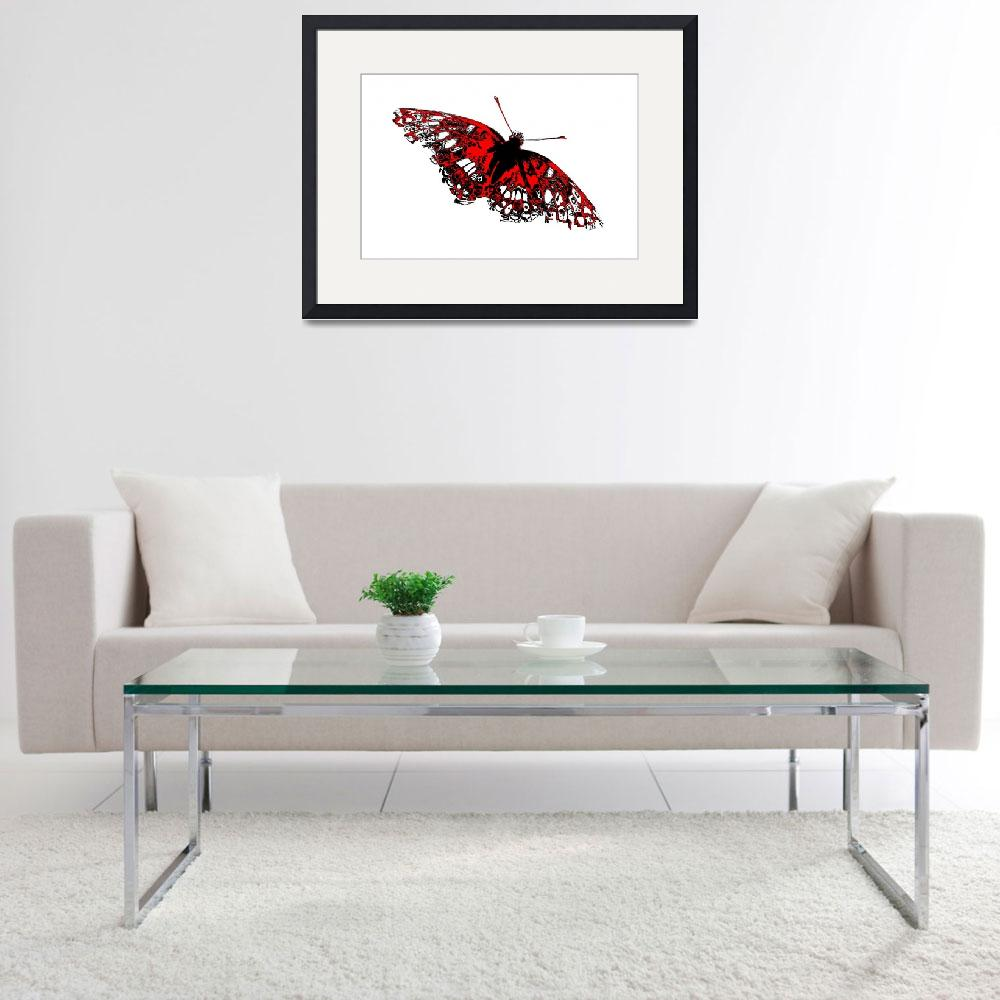 """""""Butterfly - Black White And Red Series""""  (2013) by bettynorthcutt"""