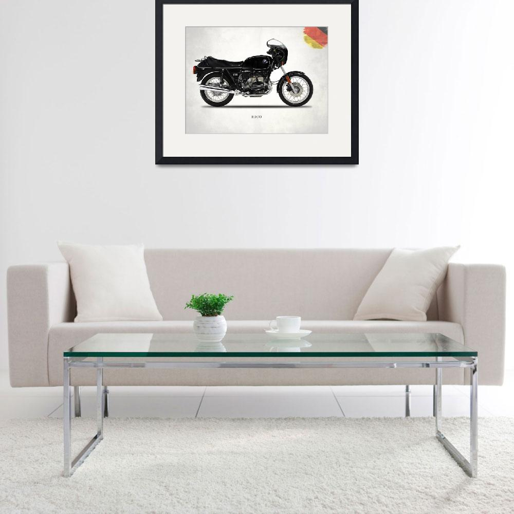"""""""The 1984 R100 Motorcycle&quot  (2009) by mark-rogan"""