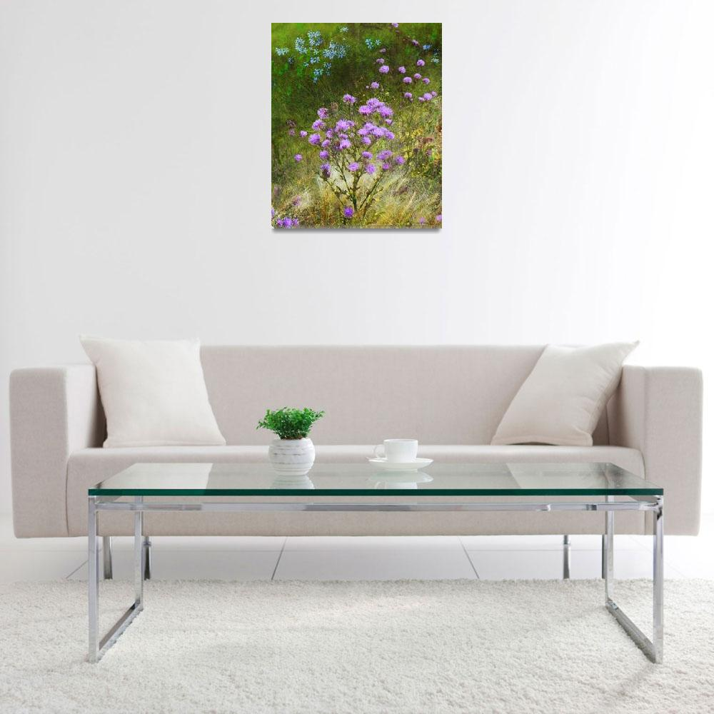 """""""knapweed and flowered meadow&quot  (2012) by rchristophervest"""