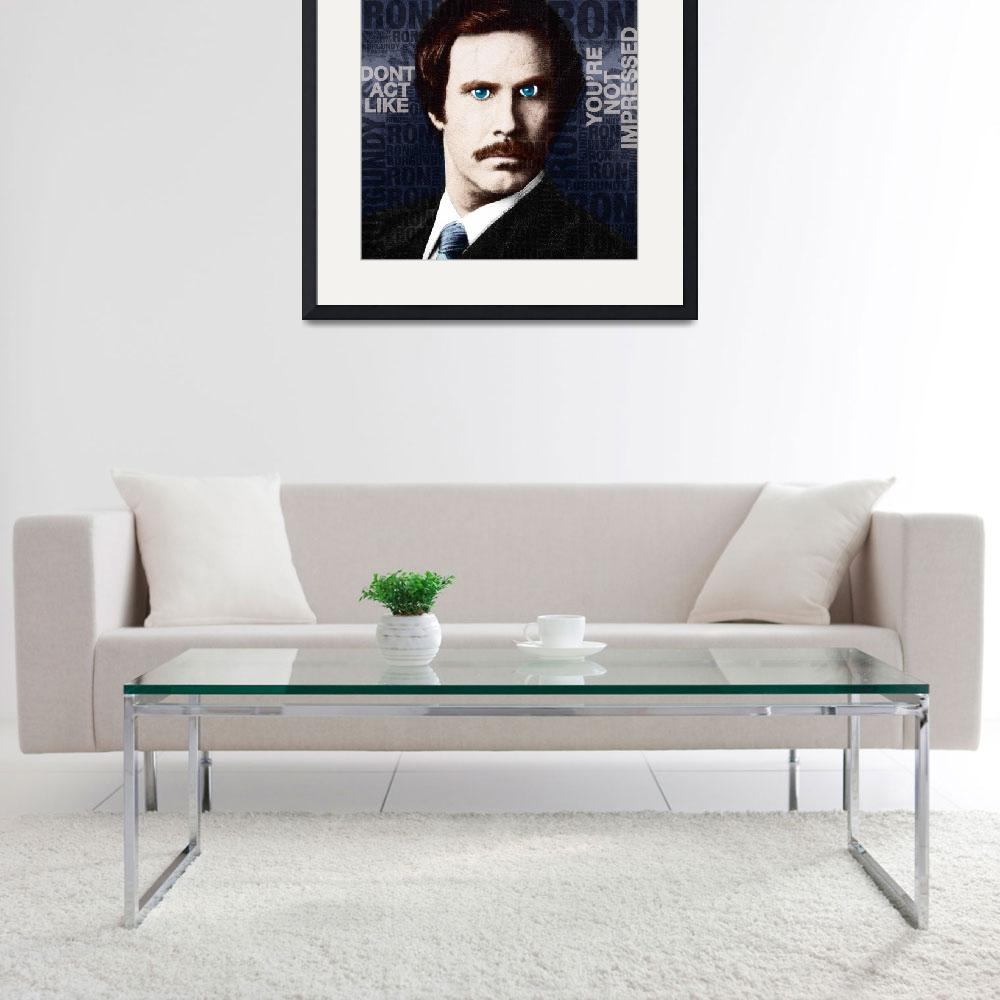 """Will Ferrell Anchorman The Legend of Ron Burgundy&quot  (2014) by RubinoFineArt"