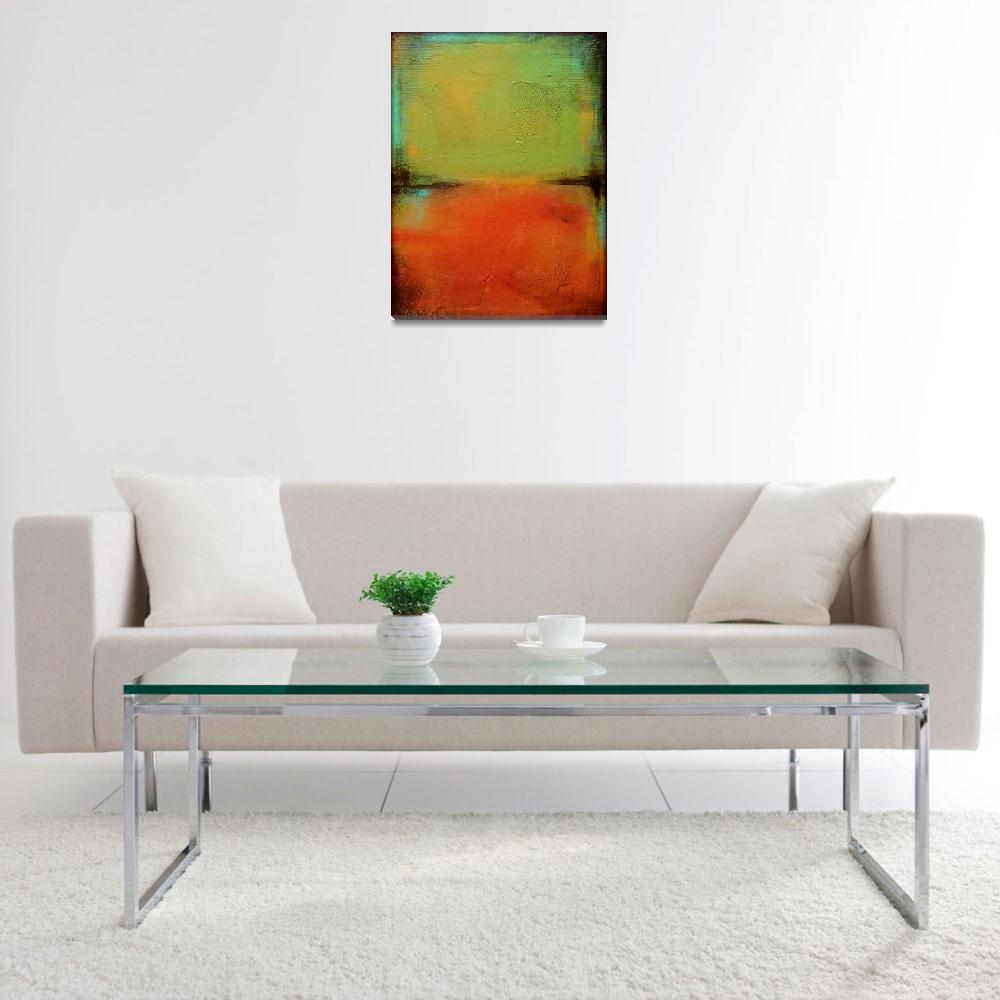 """Green and Orange""  (2013) by LizMoran"