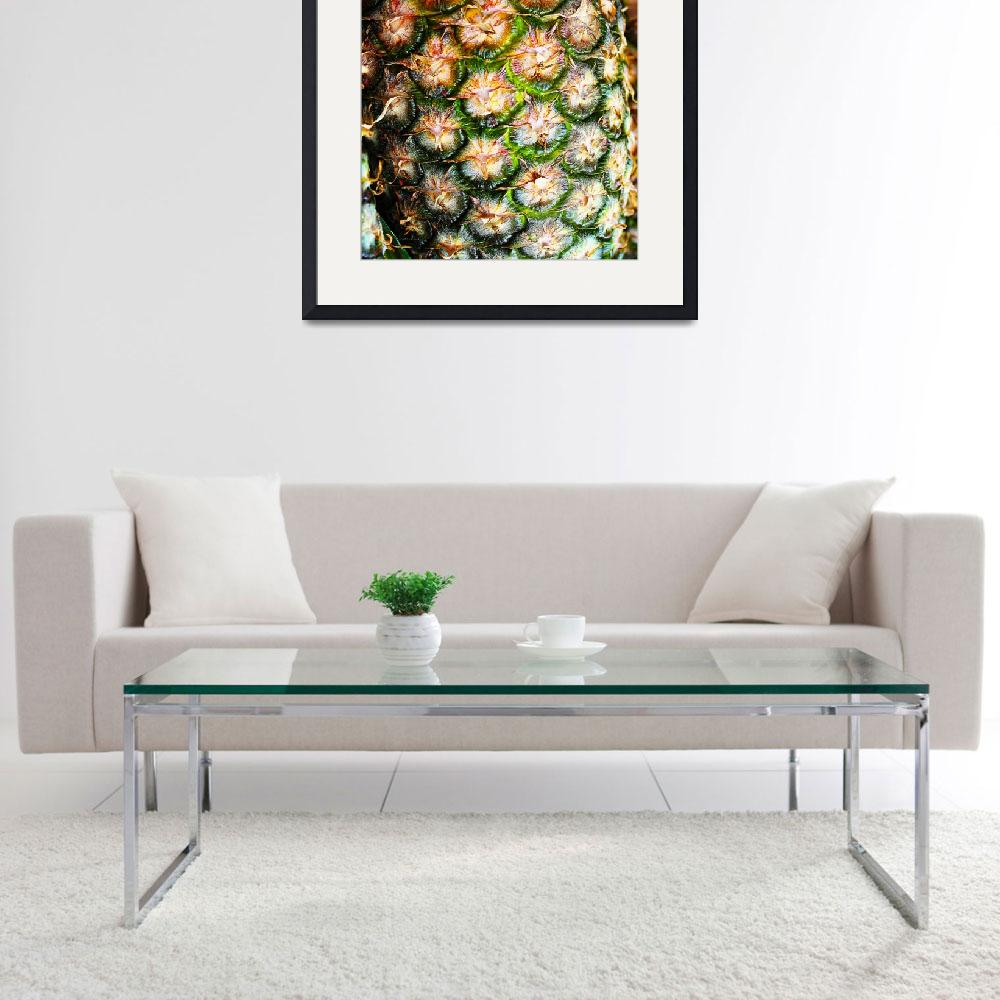 """""""Abstract Nature Tropical Pineapple A712078 Square&quot  (2017) by Ricardos"""