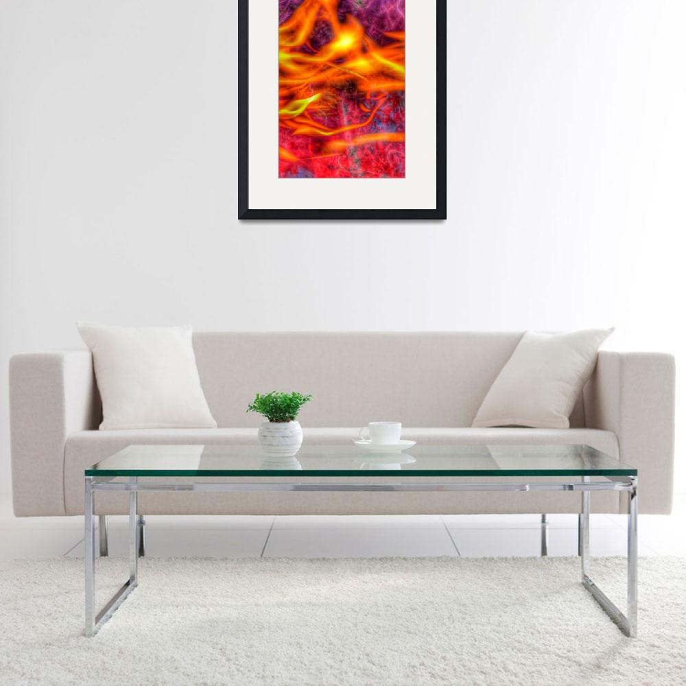 """""""Fire Abstract #1 on12 November 2018""""  (2018) by nawfalnur"""