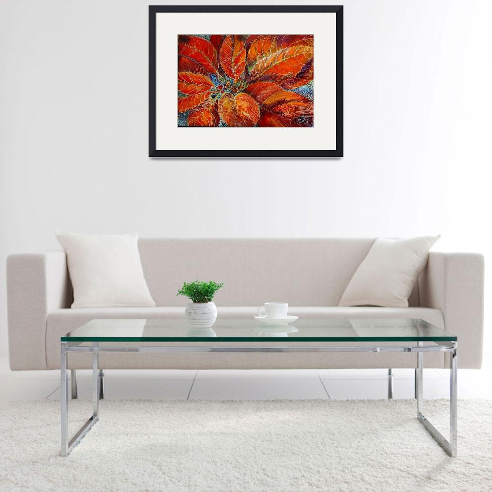 """POINSETTIA BATIK""  by MBaldwinFineArt2006"