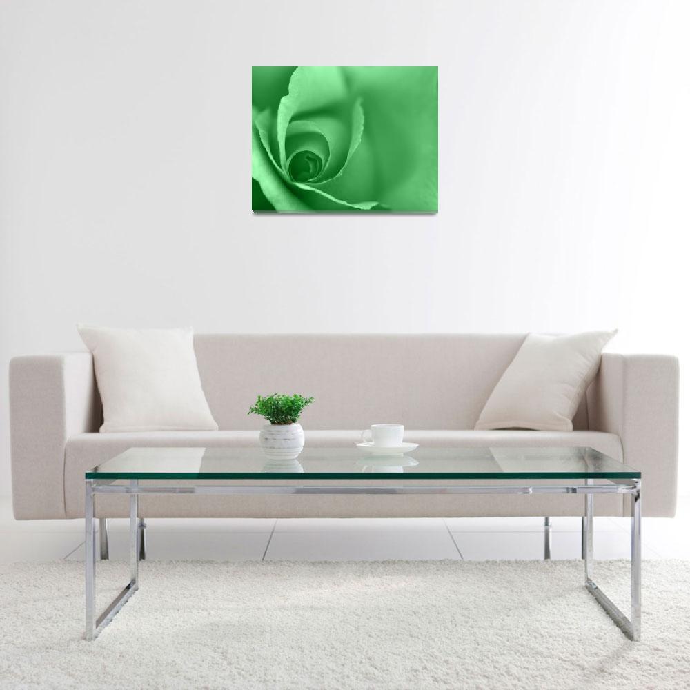 """Lime Green Coloured Floral Wall Art""  (2012) by NatalieKinnear"