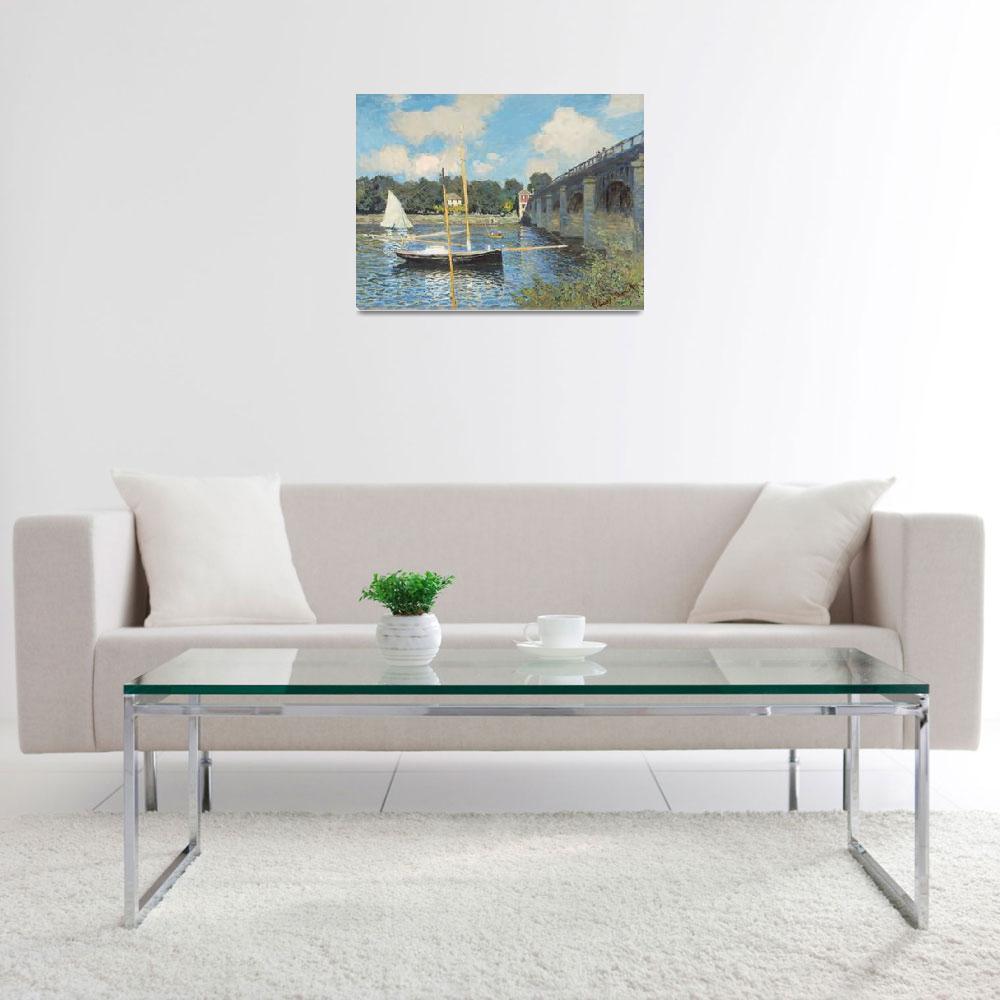 """The Bridge at Argenteuil by Claude Monet&quot  by FineArtClassics"