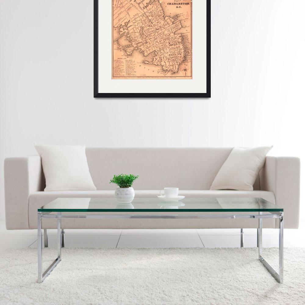 """Vintage Map of Charleston South Carolina (1849)""  by Alleycatshirts"