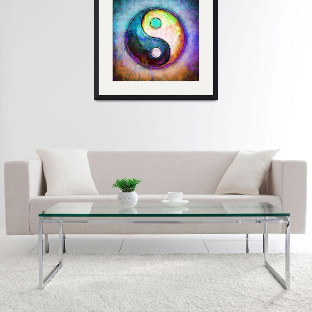 """""""Yin Yang - Colorful Painting V&quot  by dcz"""