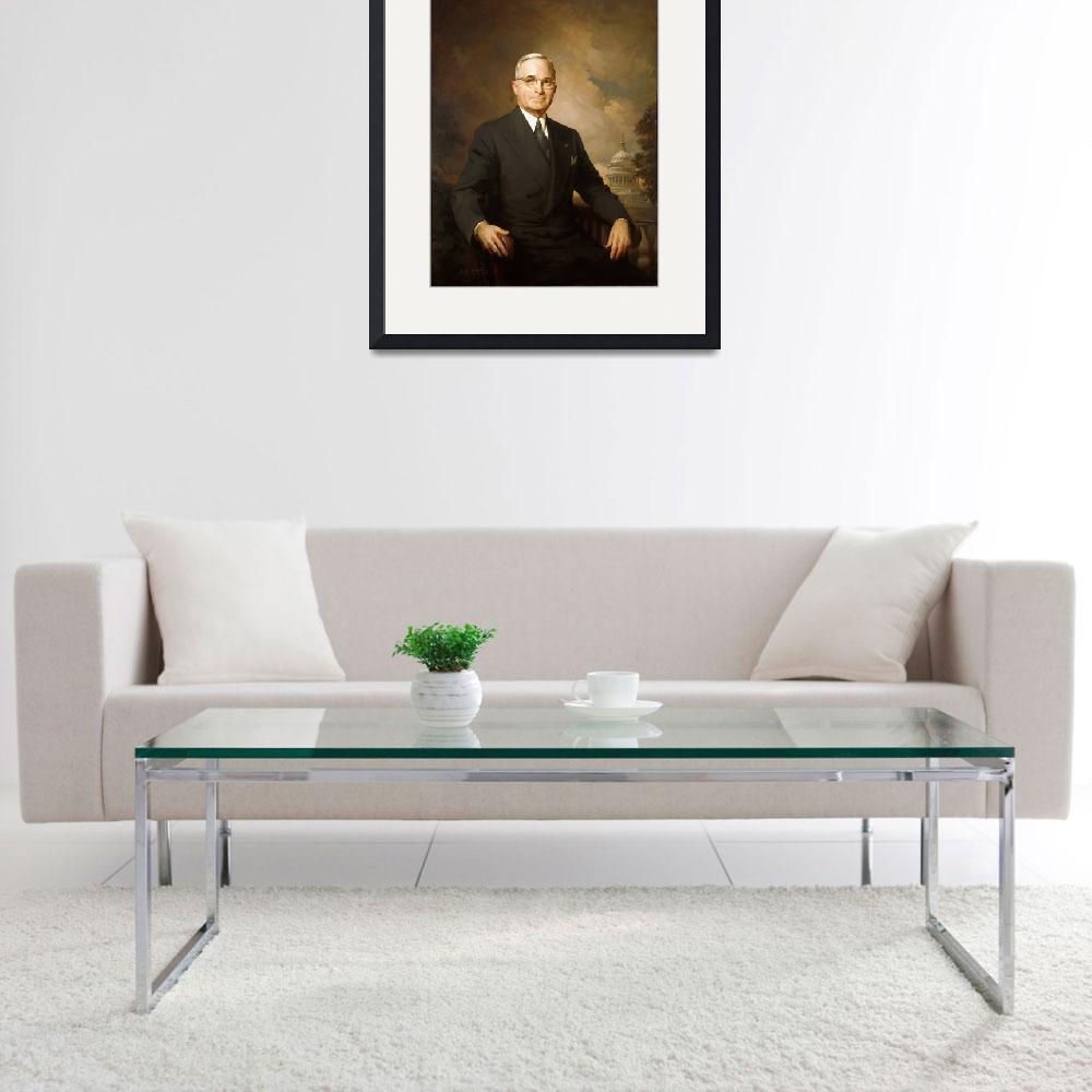 """""""President Harry S. Truman&quot  by motionage"""