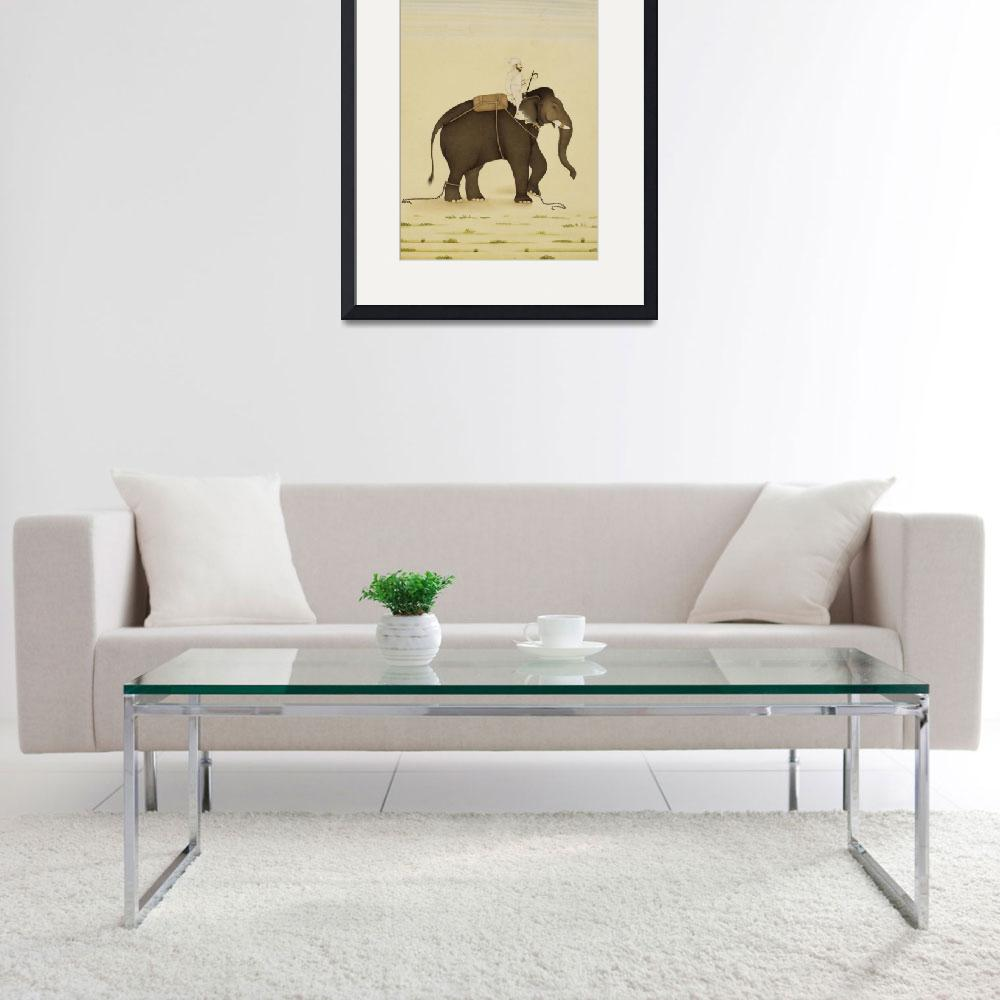 """""""Mahout Riding an Elephant Painting (18th Century)&quot  by Alleycatshirts"""