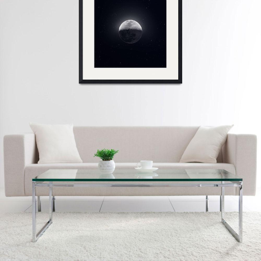 """Our Moon in High Definition&quot  (2019) by cosmic_background"
