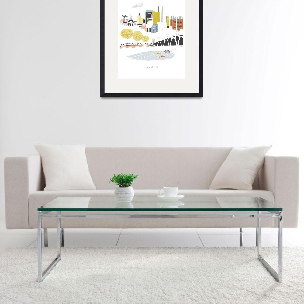 """Richmond Modern Cityscape Illustration&quot  by AlbieDesigns"