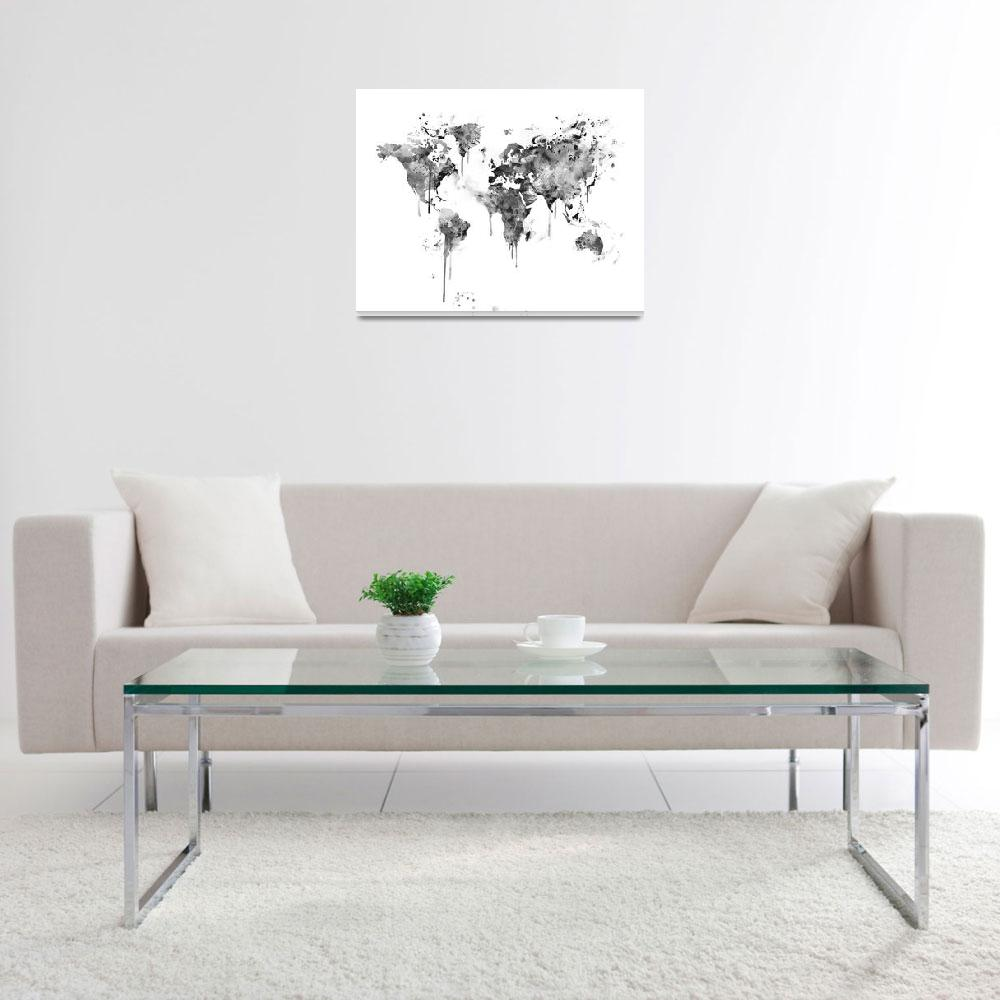 """""""World Map&quot  (2017) by monnprint"""