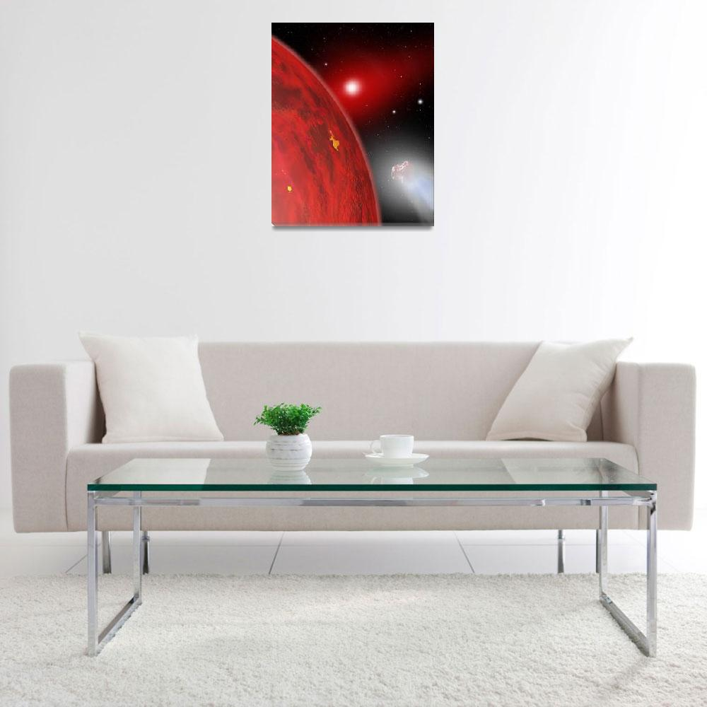 """A red dwarf star shines feebly on a new member of&quot  by stocktrekimages"