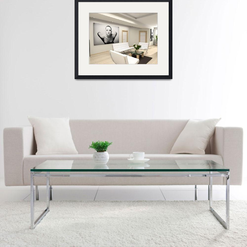 """""""Modern interior with the fashionable picture.""""  by AaronMartin111"""