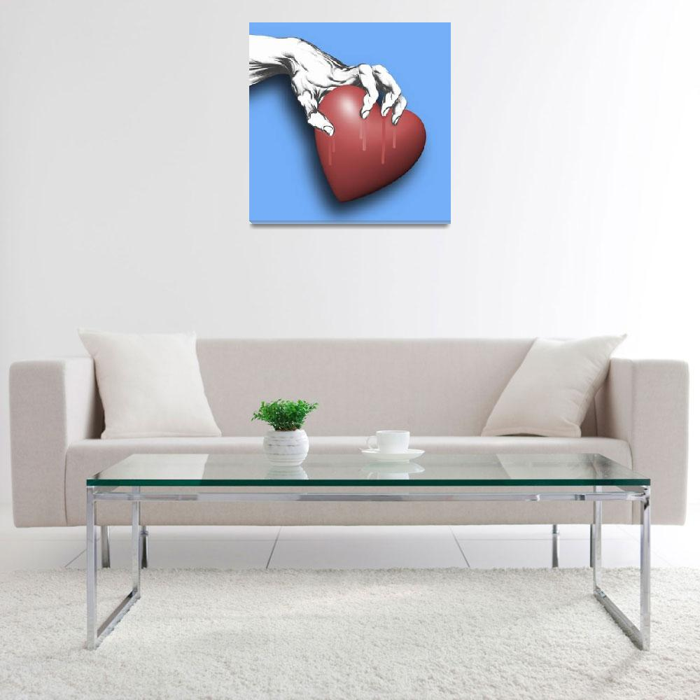 """Heart Series Love Clawed Hearts""  (2014) by RubinoFineArt"