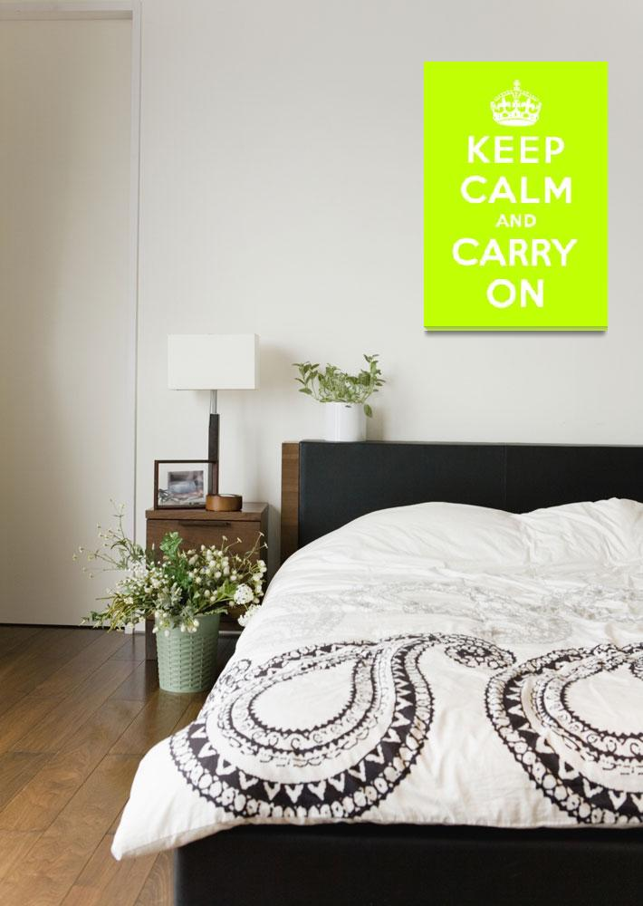 """""""Green Keep Calm And Carry On 1""""  by oldies"""