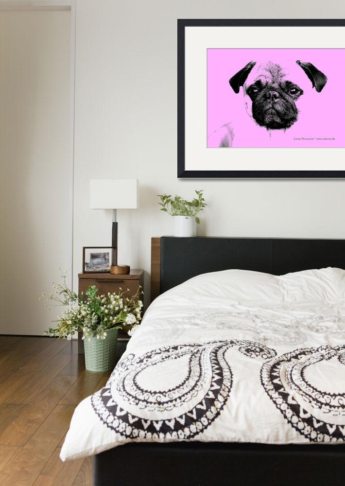 """""""mops puppy in babypink&quot  (2012) by fuxart"""
