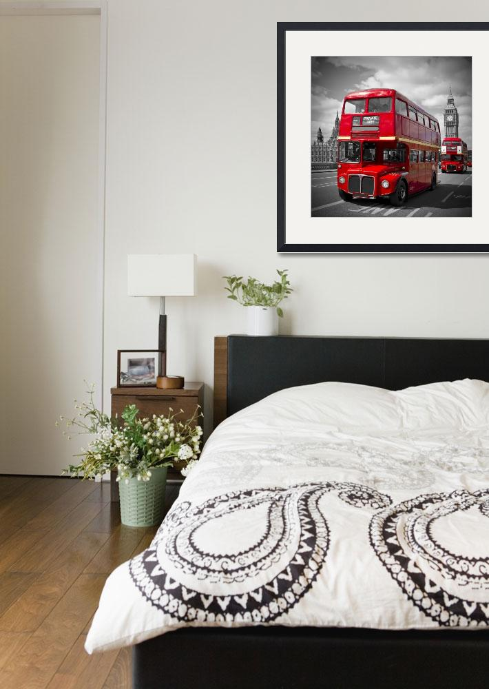 """""""London Red Buses&quot  (2014) by MelanieViola"""