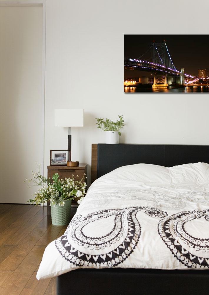 """Benjamin Franklin Bridge, Philadelphia&quot  by MichelleOKane"