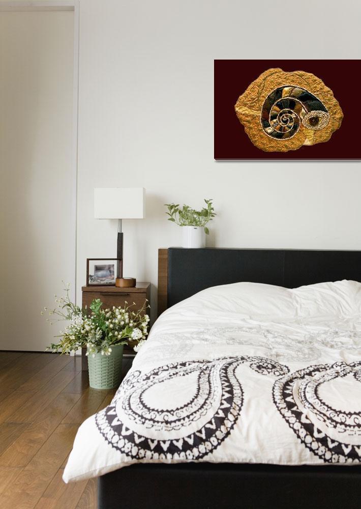 """Golden Ammonite Textile""  (2008) by SallyJoy"