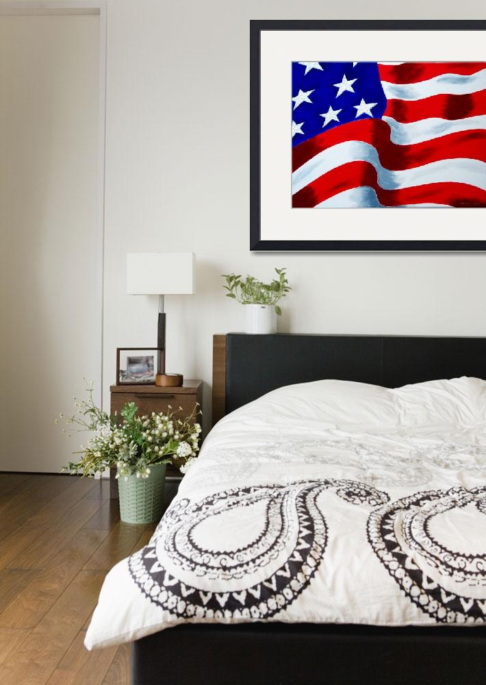 """""""Flag of USA&quot  (2009) by galina"""
