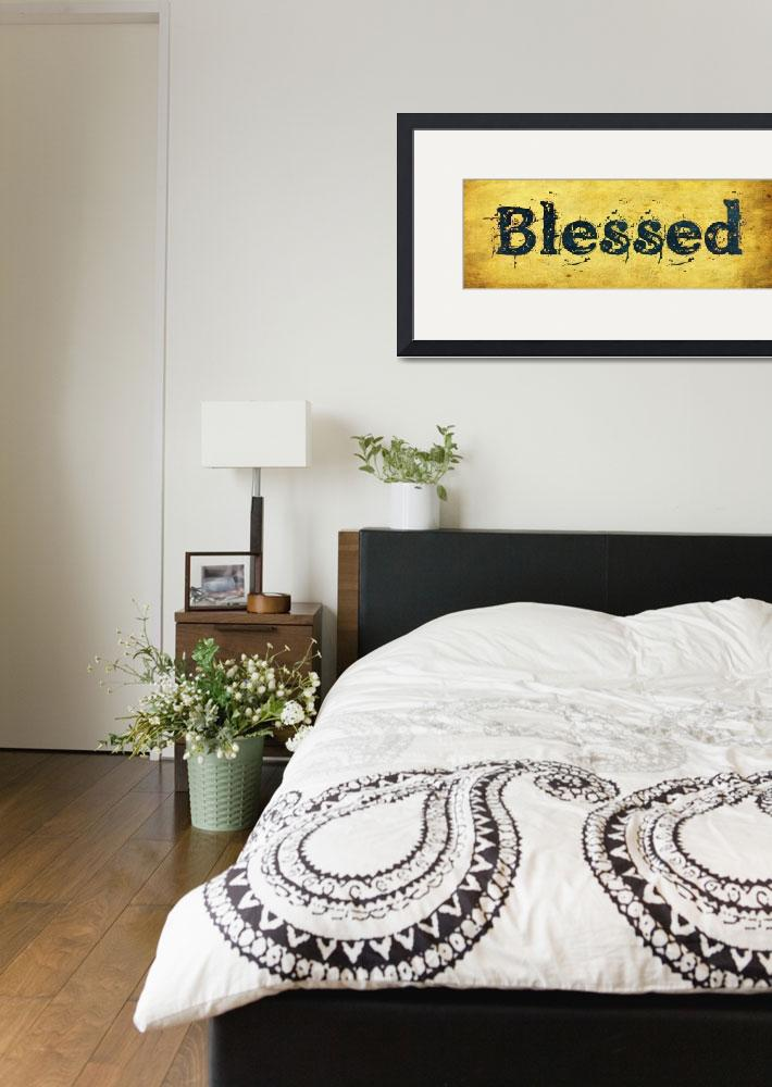 """""""blessed old print gold vintage""""  by lizmix"""