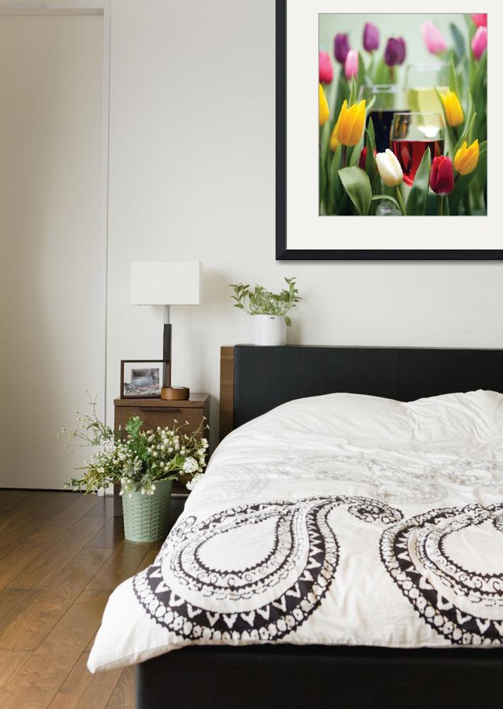 """""""Tulips and Wine&quot  by winecountrycreations"""