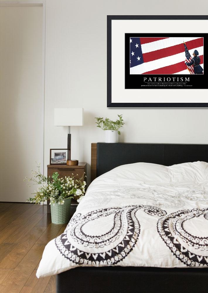 """Patriotism: Inspirational Quote and Motivational P&quot  by stocktrekimages"
