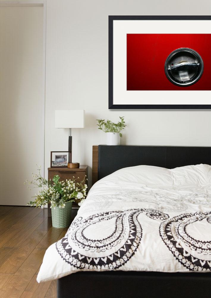 """""""Chrome Circle in Red Abstract Art to Buy&quot  (2010) by tobiphoto"""