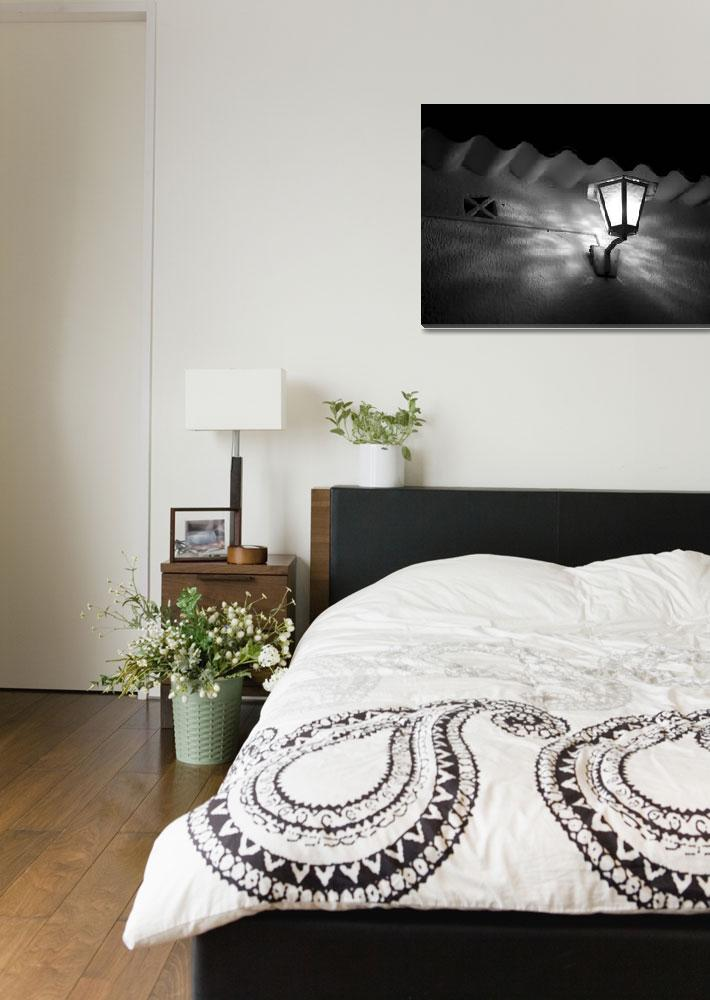 """""""black and white lamp&quot  (2008) by iratxe"""