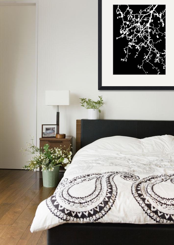 """""""black and white tree print&quot  (2013) by cathyjacobs"""