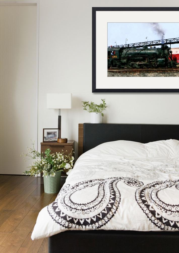 """Trains - Steam Locomotive&quot  by susansartgallery"