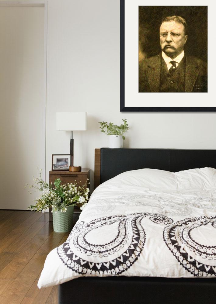 """""""Theodore Roosevelt Abstract Portrait&quot  by motionage"""