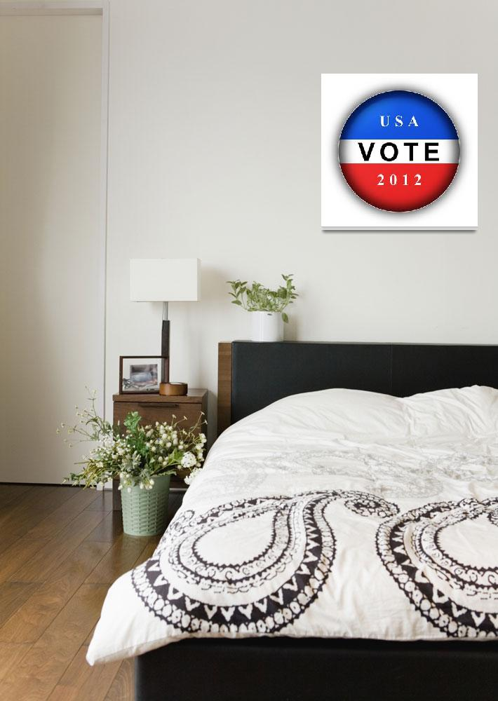 """Vote Button 2012""  (2012) by hlehnerer"