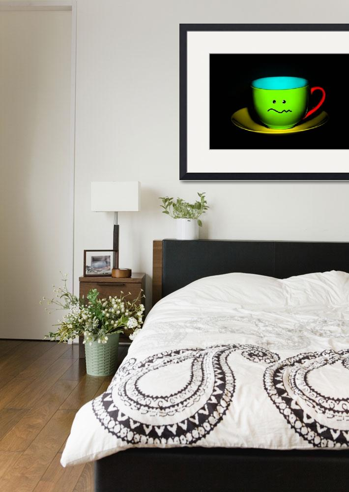 """Funny Wall Art - Confused Colourful Teacup""  by NatalieKinnear"