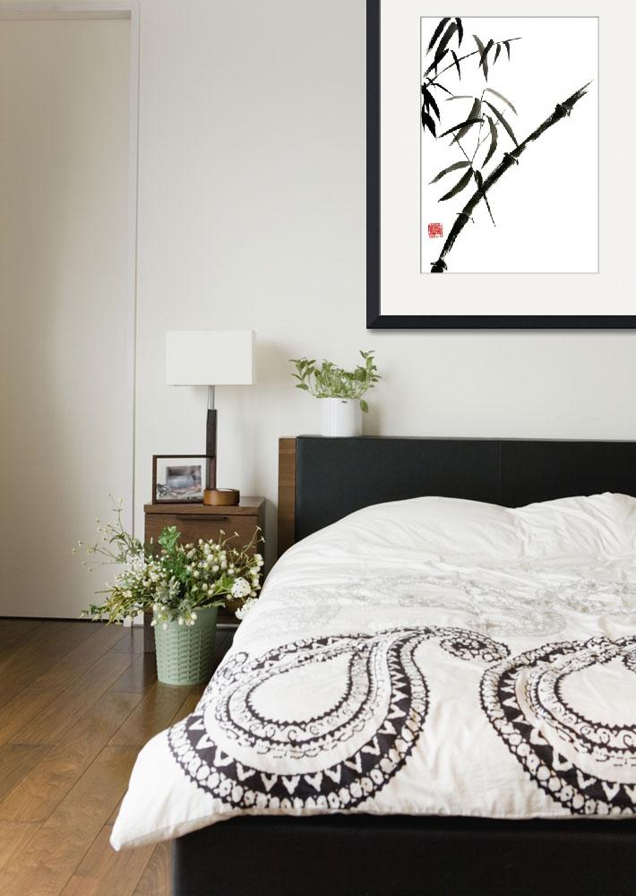"""""""Bamboo painting sumi-e japanese tree chinese water&quot  (2013) by japanese-painting-szmerdt"""