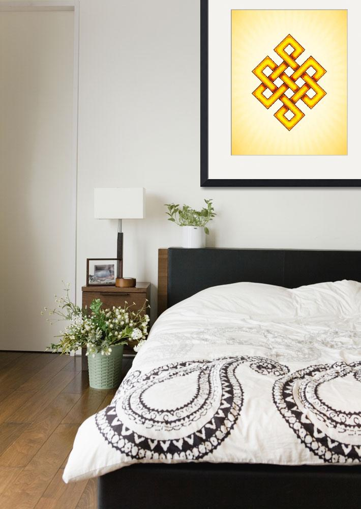 """""""Endless Knot - Yellow&quot  by dcz"""