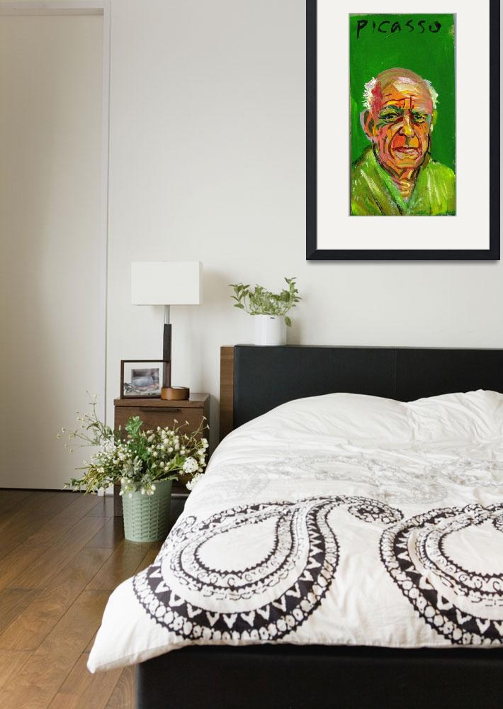 """""""Pablo Picasso&quot  (2005) by AnnHuey"""