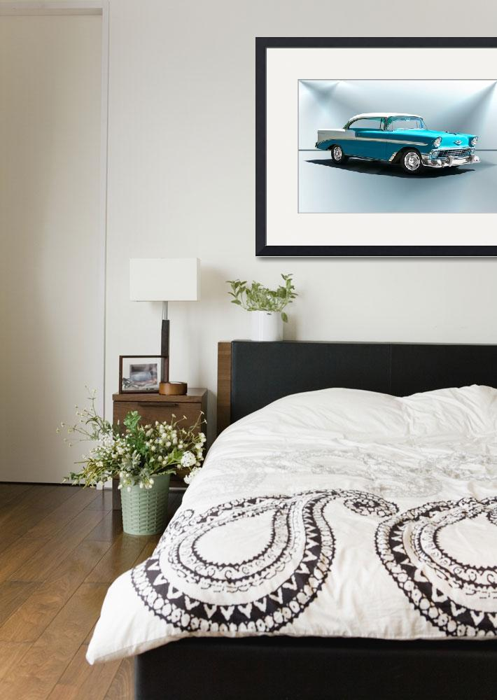 """""""1956 Chevrolet Bel Air&quot  by FatKatPhotography"""