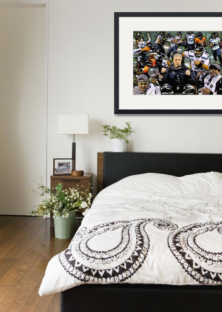 """""""Seattle Seahawks NFL Fooball Super Bowl Champions&quot  (2014) by Richimage"""