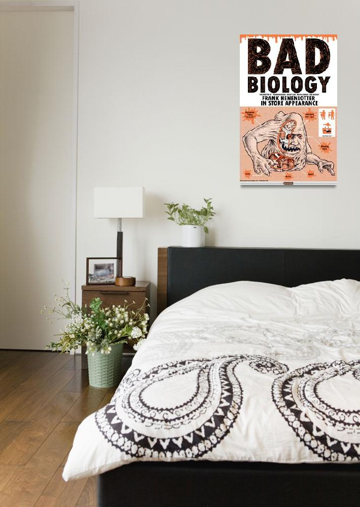 """""""Bad Biology Basket Case Poster&quot  (2010) by swellzombie"""