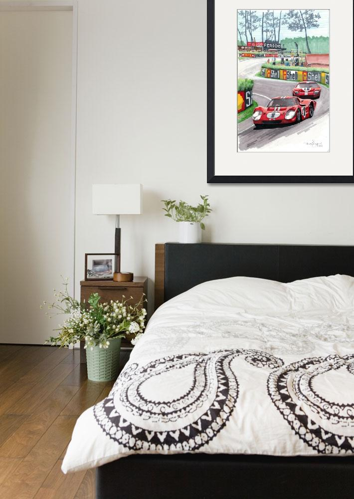 """1967 24 Hours of Le Mans""  (2011) by DavidJacksonArt"