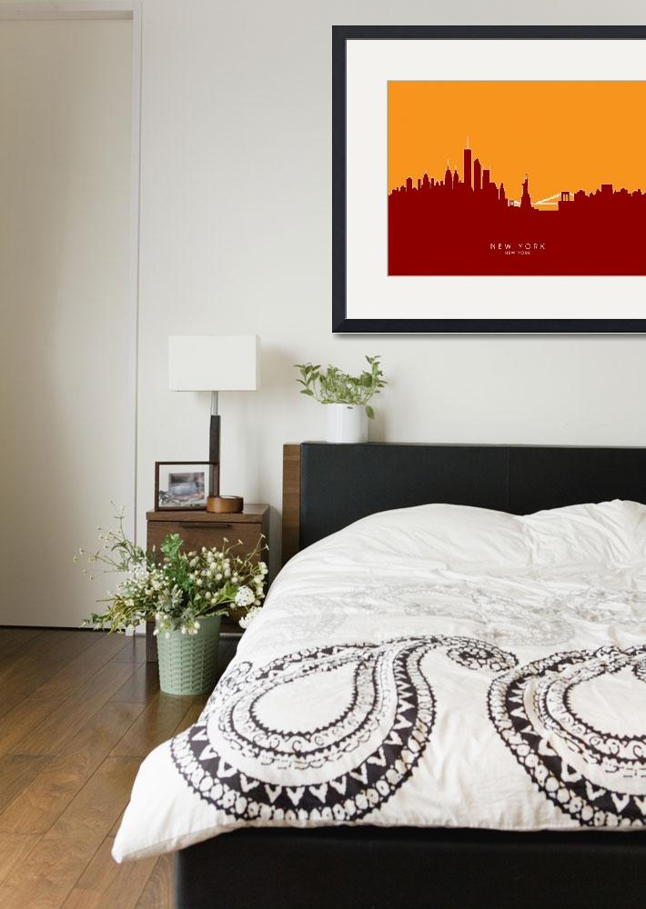 """New York Skyline""  (2014) by ModernArtPrints"