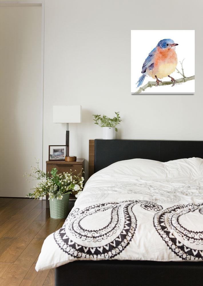 """Lone Bluebird&quot  by SharonRMorgio"