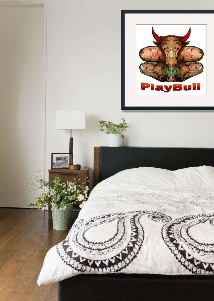"""PlayBull enhanced (white background)&quot  (2007) by originartzi"