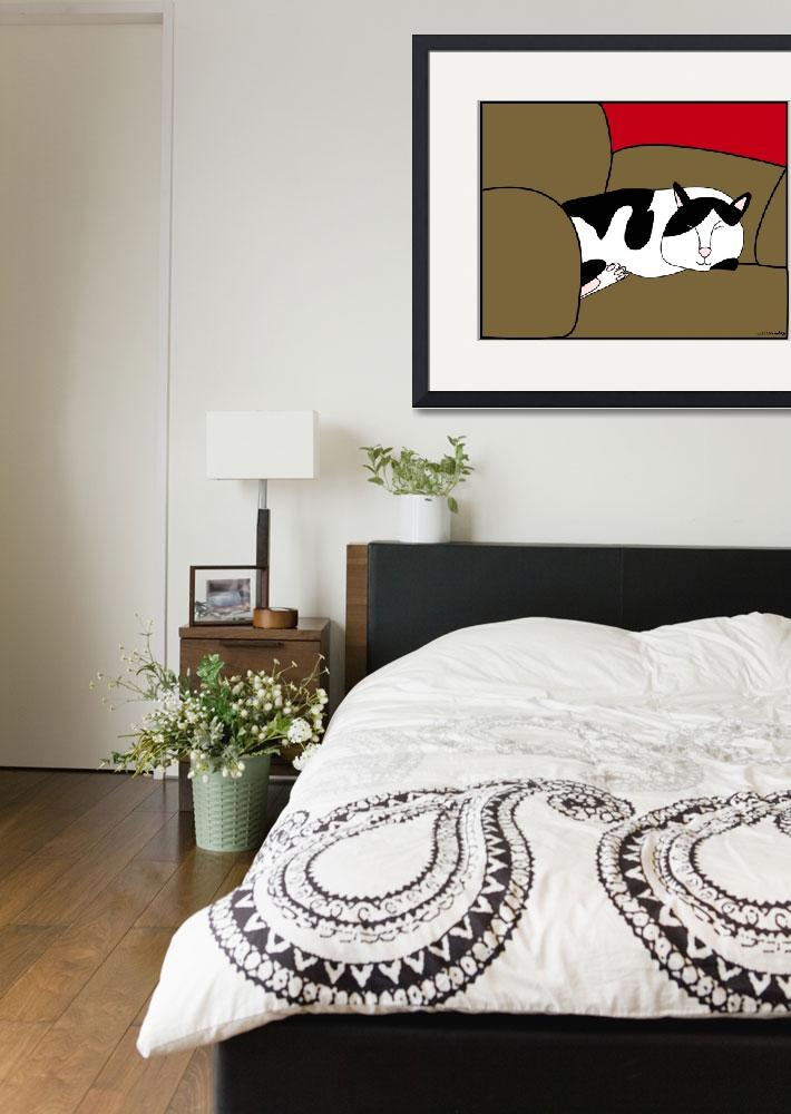 """""""Sleeping Oreo&quot  (2010) by ValeriesGallery"""