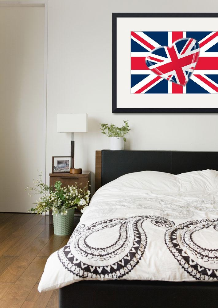 """Jaunty Heart Union Jack Flag&quot  (2012) by carolekeen"