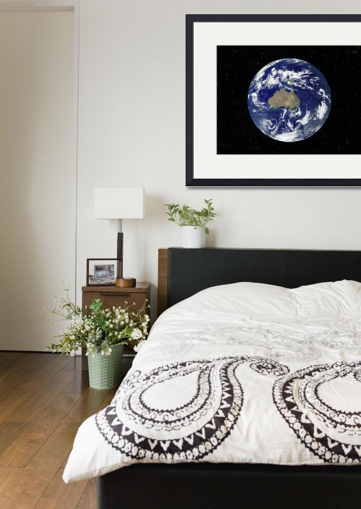 """""""Fully lit Earth centered on Australia and Oceania&quot  by stocktrekimages"""