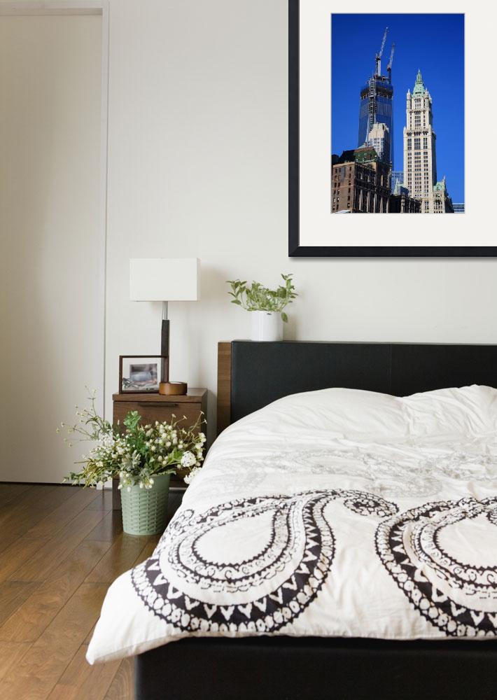 """""""Freedom Tower and Woolworth Building&quot  (2013) by Ffooter"""